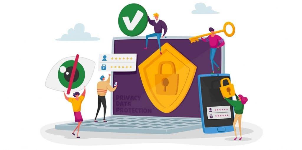 Secure WordPress website graphic