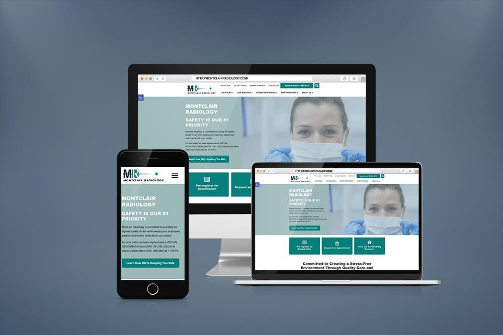 Montclair Radiology Hospital WordPress Website
