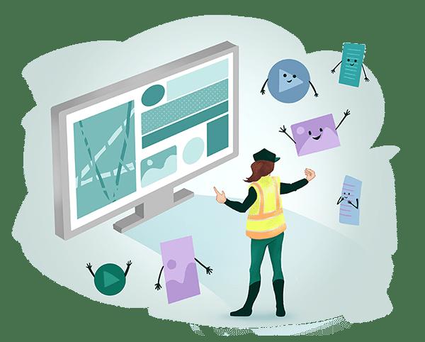 Website Content Optimization Graphic