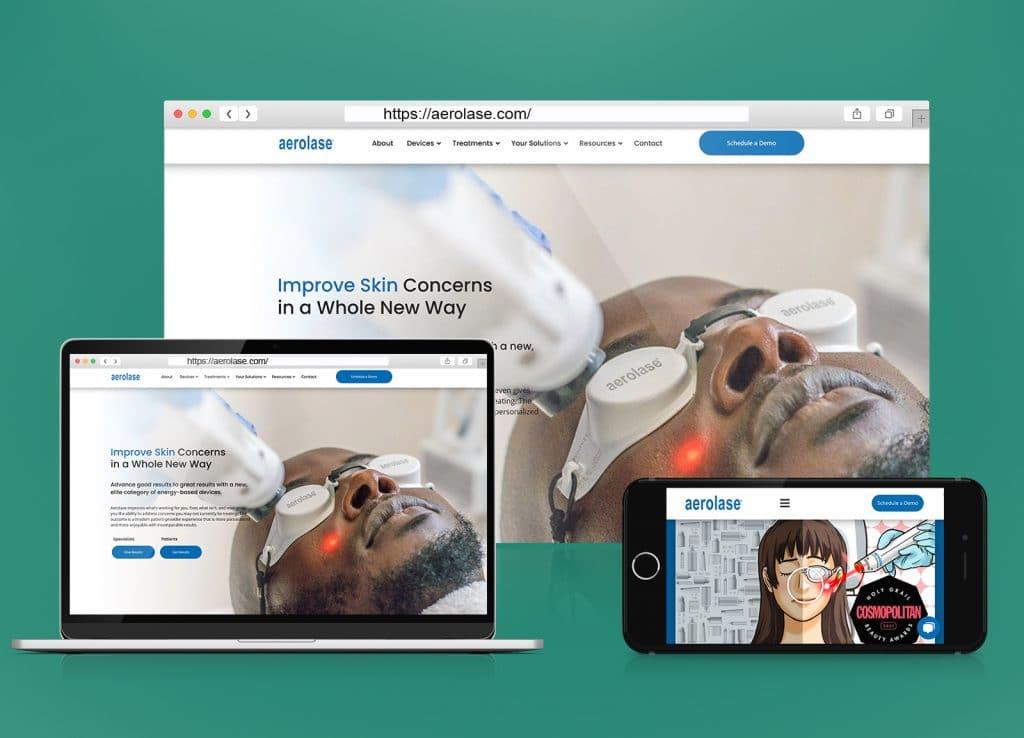 Aerolase B2B Company Website