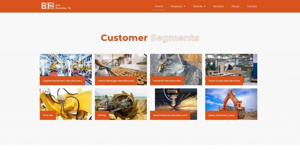 B2B Website Customer Segments