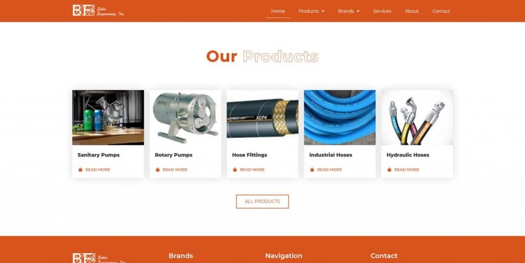 B2B Website Products