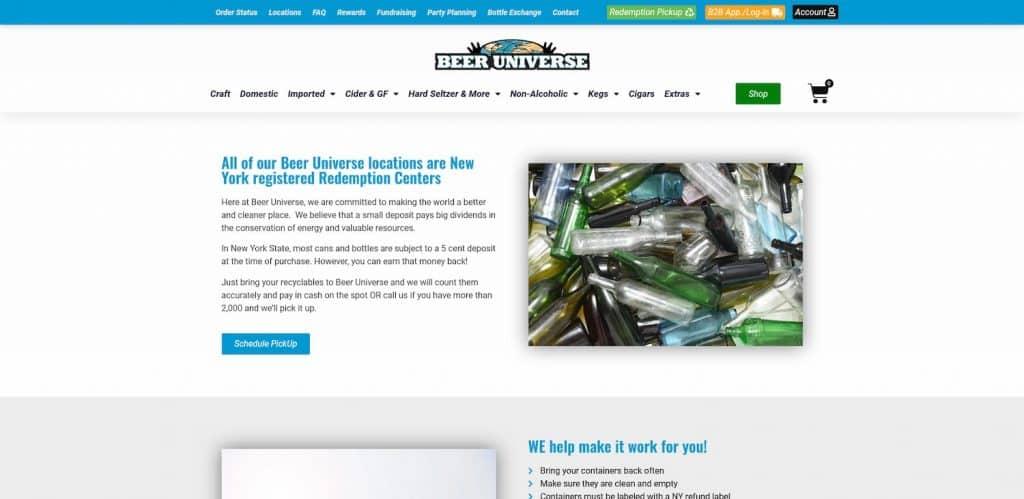 Beverage Center Website Design
