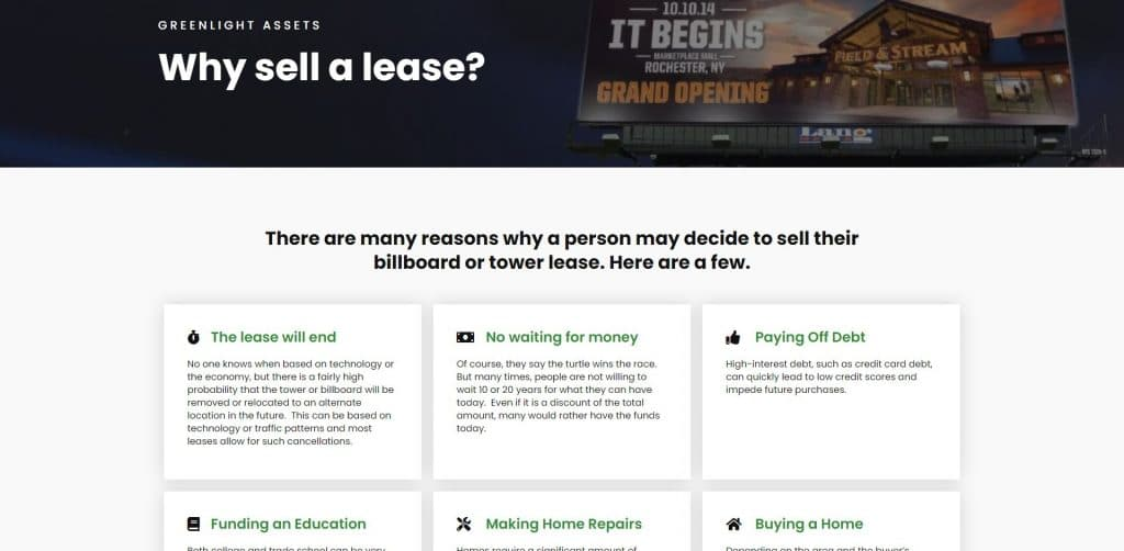 Billboard Company Website Design