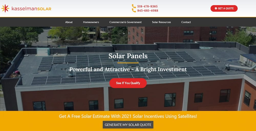 Kasselman Solar Company Website