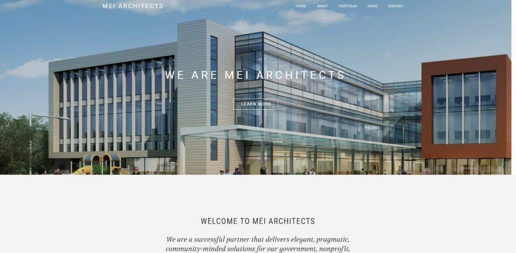 MEI Architect Website Design