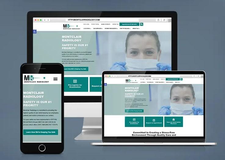 Montclair Radiology Website for Hospital