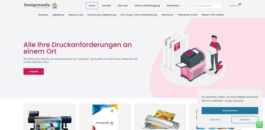 eCommerce Print Business Website