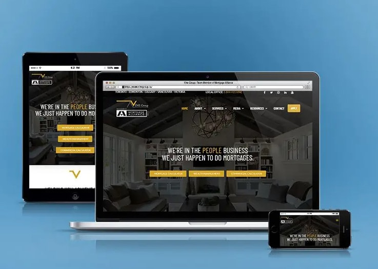 VINE Group of Canada Mortgage Broker Website