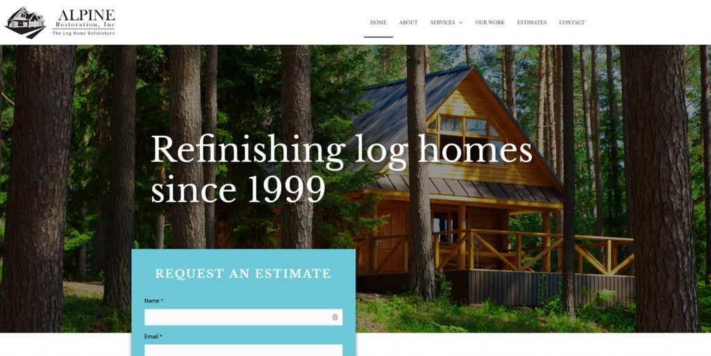 Alpine Restoration Log Home Website