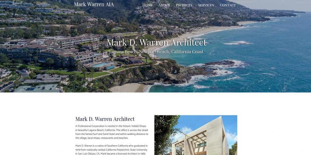 Mark Warren Architect Web Design