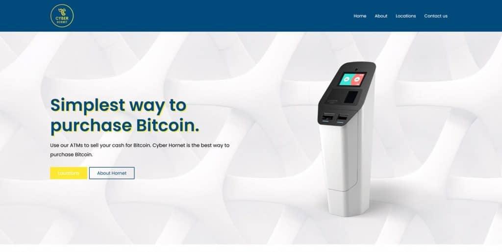 Cyber Hornet Bitcoin ATM Website