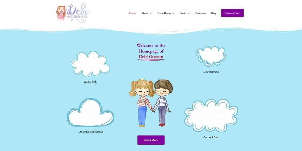 Author website with WordPress