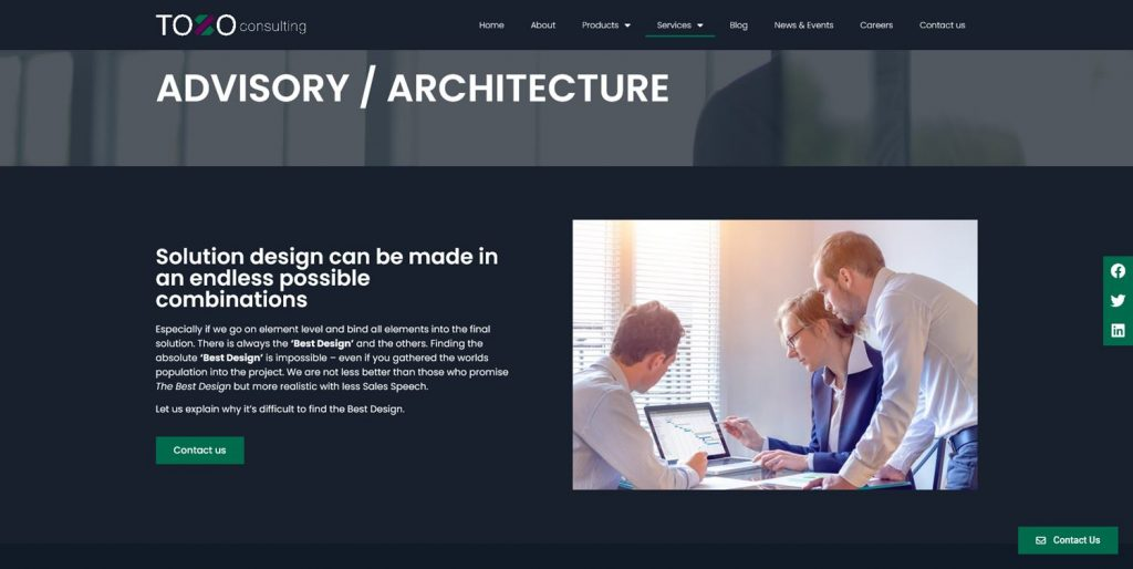 IT consulting website