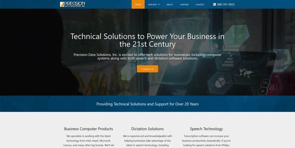 Precisions Data IT Web Design
