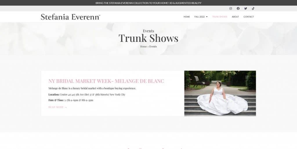 NY Dress Designer Website Project